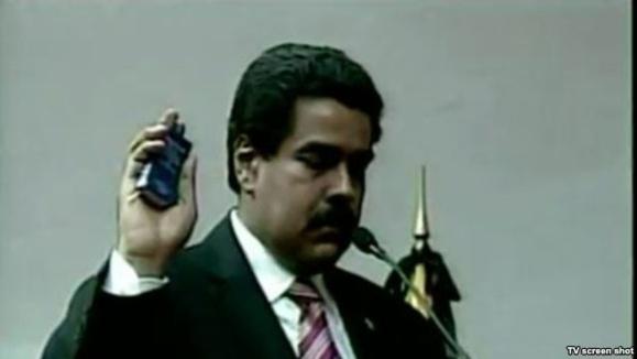مادورو به عنوان رييس جمهوری موقت ونزوئلا سوگند ياد کرد