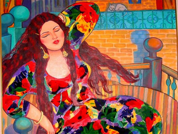 تابلویی از پرفسور نقاش خانم وسمه الآغا