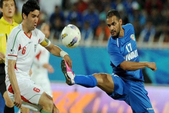 تیم های فوتبال ایران و کویت یک بر یک مساوی کردند