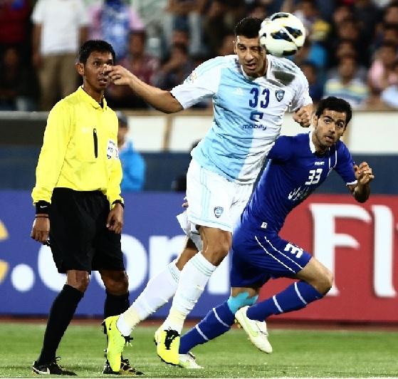 شکست تیم استقلال تهران در برابر تیم الهلال عربستان سعودی در استادیوم آزادی