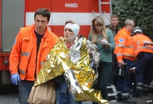 انفجار شديدی در يک ساختمان، مرکز پراگ را به لرزه در آورد