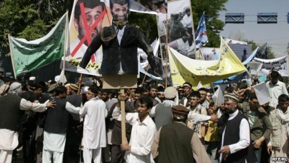 صدها تن در شهر کابل علیه ایران دست به مظاهره زدند