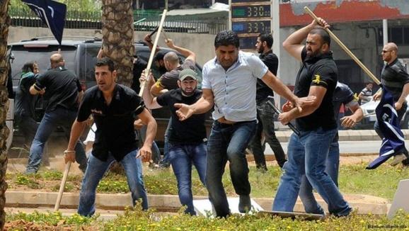 اوباش و چماقداران سیاه پوش حزب الله