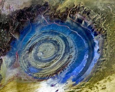 ریچت یا چشم صحرا در موریتانی
