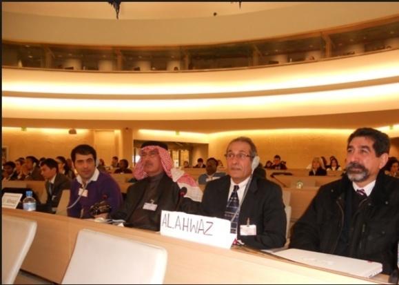 عکس آرشیوی از حضور فعالان حقوقی عرب اهوازی در سازمان ملل متحد