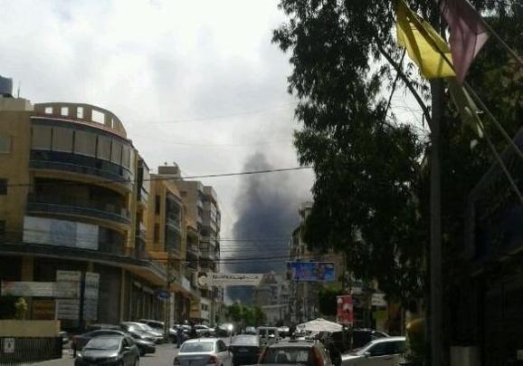 انفجار مهیب یک خودروی بمبگذاری شده درشهر بیروت پایتخت لبنان