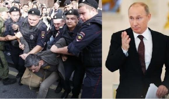 پلیس روسیه گروهی از هواداران معترض سرشناس را بازداشت کرد