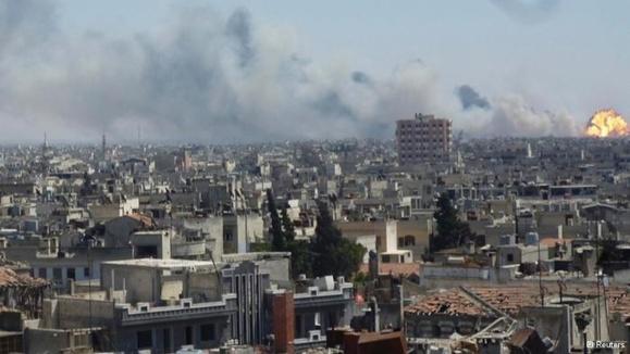 بیش از 40 کشته و 120 زخمی در بین نیروهای بشار اسد بر اثر انفجار انبار مهمات در سوریه