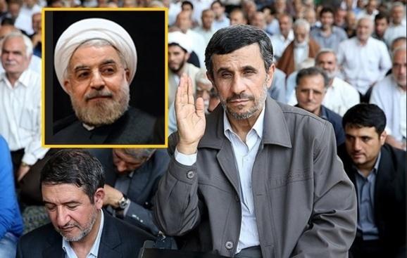 مراسم تنفیذ حسن روحانی یا پایان  احمدی نژاد