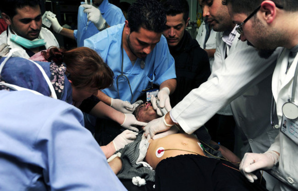 رژیم جنایتکار اسد با گاز سمی صدها نفر را کشت