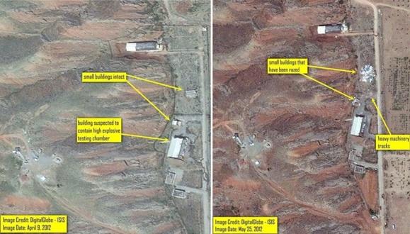 «بخشعمدهای از سایت نظامی پارچین آسفالت شده است»