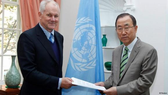 تحویل گزارش بازرسان سازمان ملل درباره سوریه به بان کیمون