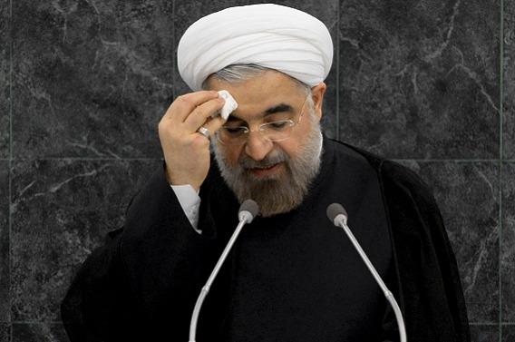روحانی در نیویورک دیدگاه های محمود احمدی نژاد را با لحنی آرام ومودبانه مطرح کردند