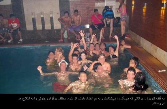 استخرپارتی و مهمانیهای شبانه در تهران+عکس