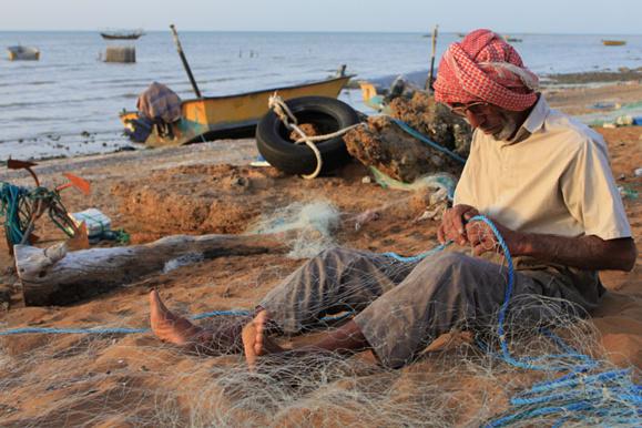 ماهیگیر عرب در قشم