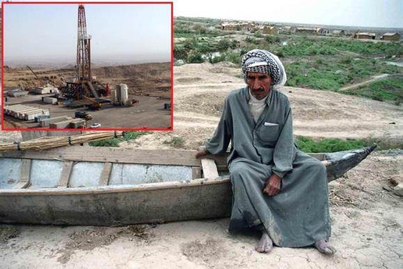آخرین نفس های تالاب بین المللی هور العظیم بر روی دستان آلوده نفت