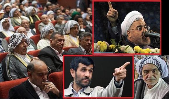 سخنرانی حسن روحانی به سبک وشیوه احمدی نژاد اما به زبان عربی در اهواز