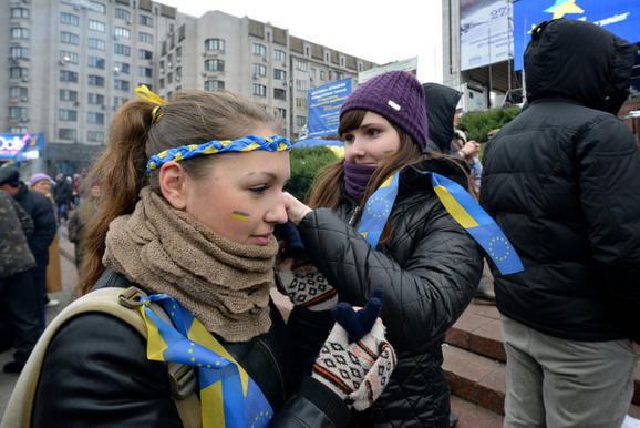 اعتراضات اوکراین به «مناطق هوادار دولت» کشیده شد