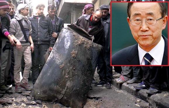 دبیر کل سازمان ملل متحد استفاده از بمبهای بشکهای در سوریه را محکوم کرد