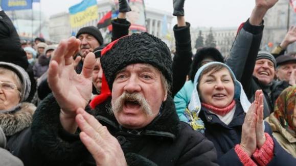 هزاران نفر در پایتخت اوکراین تظاهرات کردند