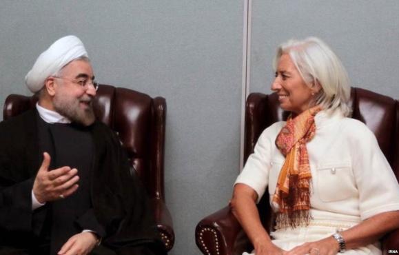 حسن روحانی و کریستین لاگارد، رئیس صندوق بینالمللی پول