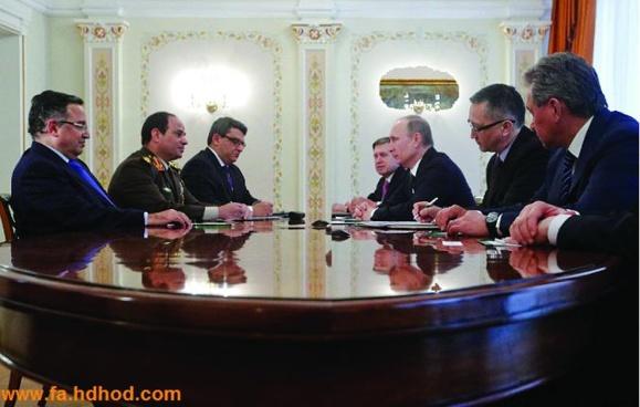 دیدار سپهبد عبدالفتاح السیسی، معاون اول نخست وزیر و فرمانده کل نیروهای مسلح مصر با ولادیمیر پوتین، رئیس جمهوری روسیه در مسکو