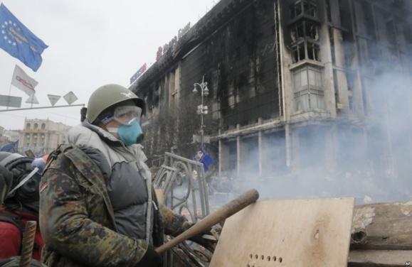 درگیری های تازه در کیف ساعاتی پس از اعلام آتش بس