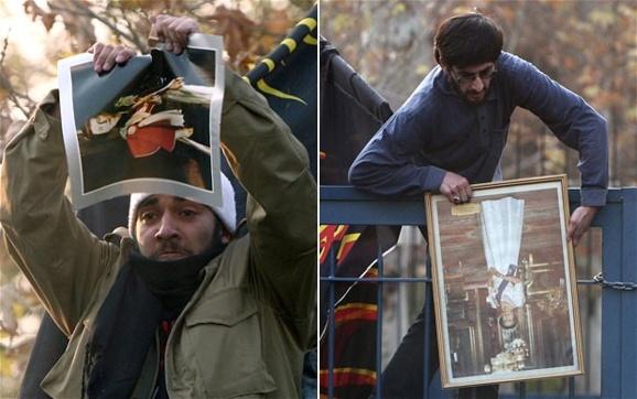 """حمله""""دانشجویان بسیجی"""" به مقر دیپلماتیک بریتانیا در تهران-عکس آرشیوی"""