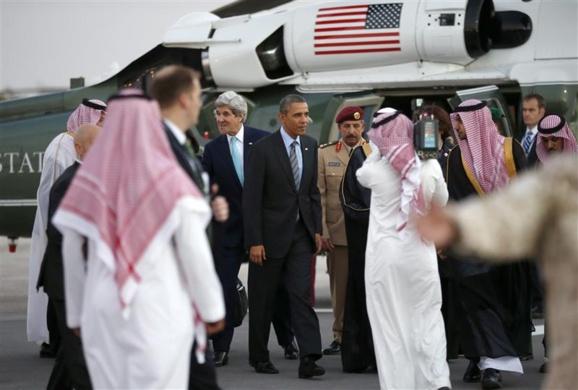 باراك اوباما رییس جمهوری ايالات متحده امریکا،روز جمعه وارد ریاض شد