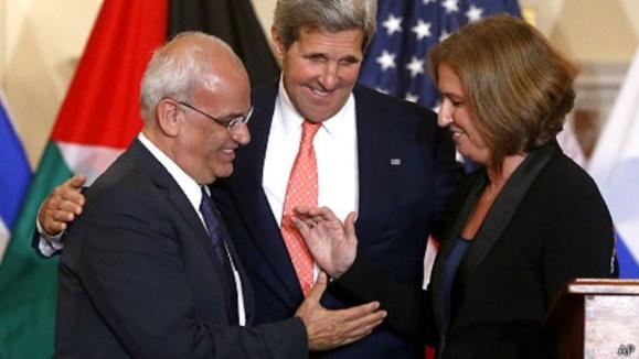 احتمال کناره گیری آمریکا از گفتگوهای صلح خاورمیانه