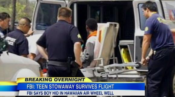 سفر پر مخاطره یک نوجوان فراری امریکائی با مخفی شدن در جعبه چرخ هواپیما