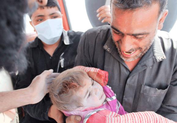 بمباران مناطق مسکونی سوریه با بشکه های باروت ایرانی صدها کشته ومجروح برجای گذاشت