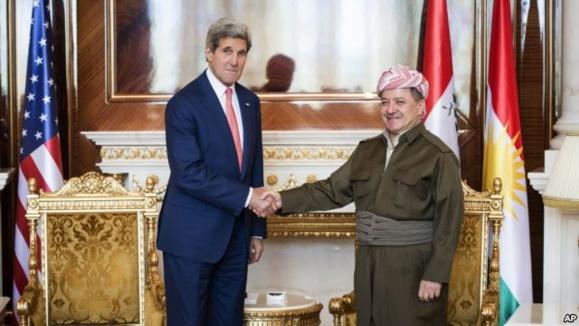 بارزانی در دیدار با جان کری: عراق جدیدی بوجود آمده