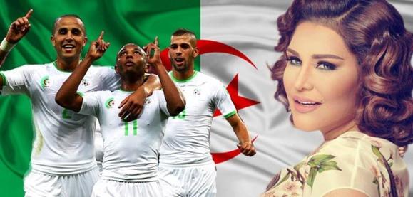 """توپی از الماس،جایزه """"احلام"""" خواننده پر آوازه امارات عربی برای سبز پوشان الجزائر"""