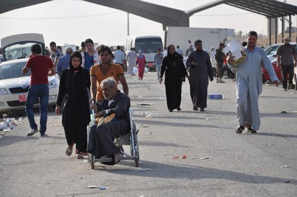 بر خلاف ایران،گذرگاه های کردستان عراق از ورود پناهجویان عراقی استقبال می کنند