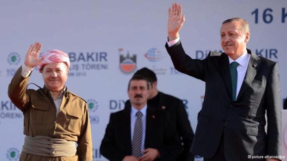 ديدار مسعود بارزانی رئیس اقليم شبه مستقل كردستان عراق از آنكارا