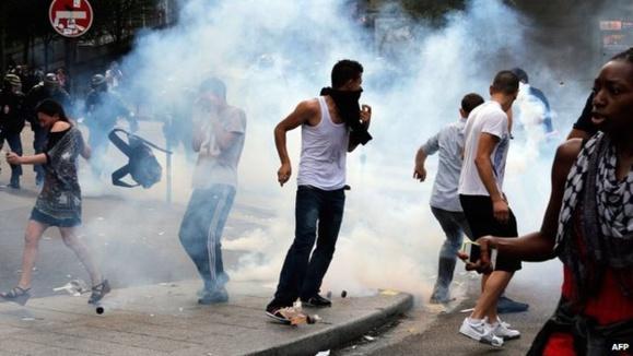 خشونت در نوار غزه شهرهاى بزرگ فرانسه  را با خطر آشوب ونا امنى مواجه ساخت