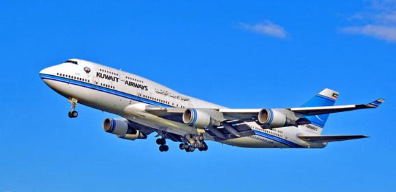 یک هواپیمای مسافربری خطوط هوایی کویت در هوا دچار نقص فنی شد