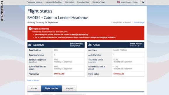 هواپیمای مسافر بری خطوط هوایی بریتانیا به هنگام پرواز دچار حادثه آتش سوزی شد