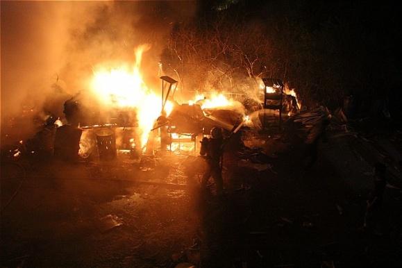 آتش سوزی مهیب در یکی از مجموعه های صنایع نظامی پارچین در شرق تهران