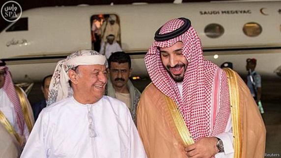 ورود رئیس جمهور قانونی یمن به ریاض همزمان با حمایت بین المللی و منطقه ای از اقدام نظامی عربستان سعودی