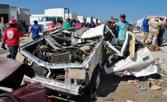 گردباد باعث ویرانی و مرگ در شمال مکزیک شد