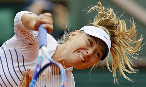 حذف شاراپووا از مسابقات تنیس آزاد فرانسه
