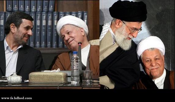 رفسنجانی با متهم کردن خامنه ای به حمایت از احمدی نژاد او را تلویحا سگ هار نامید