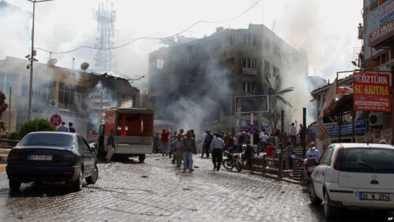انفجار در شهر مرزی ترکیه دستکم ۲۷ کشته به جا گذاشت