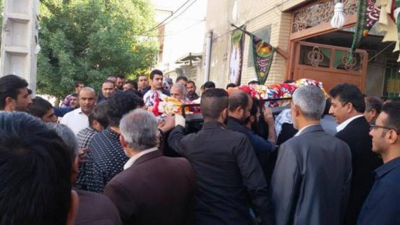 مراسم خاکسپاری فعال سياسى عرب اهوازى محمد حمادی