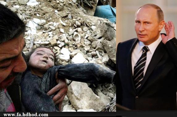 ادامه جنایات جنگی روسیه با پشتیبانی ایران در سوریه