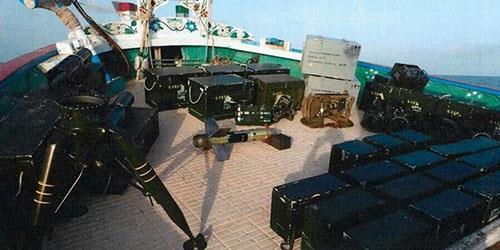 کشتی توقیف شده توسط نیروی دریایی فرانسه، از ایران اعزام شده و حامل سلاح بود