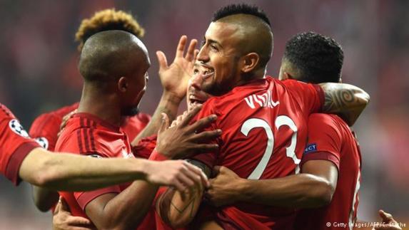 لیگ قهرمانان اروپا؛ پیروزی بایرن مونیخ با گل برقآسای ویدال