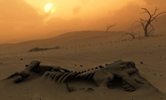 انقراض دایناسورها، پیش از برخورد شهابسنگ عظیم به زمین بود